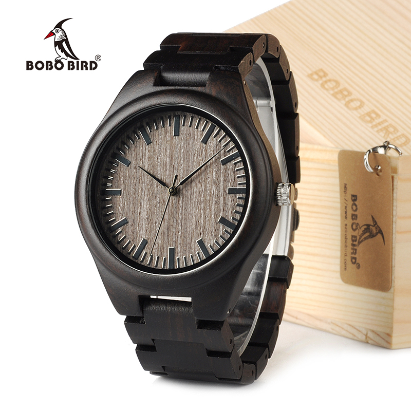 BOBO BIRD H05 Men's Designer Watches Bamboo Wood Luxury Brand With Wood Strap Men Dress Watch in Gift Box bobo bird o01 o02men s quartz watch top luxury brand bamboo wood dress wristwatch with classic folding clasp in wood gift box