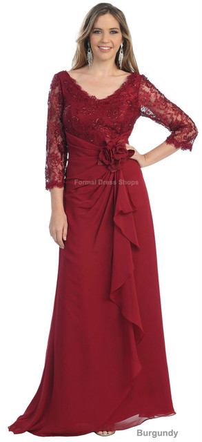 27c1294849f free shipping 2018 PLUS SIZE MOTHER of the BRIDE GROOM DRESS FORMAL EVENING  LONG SLEEVE TRENDY GOWN lace for wedding