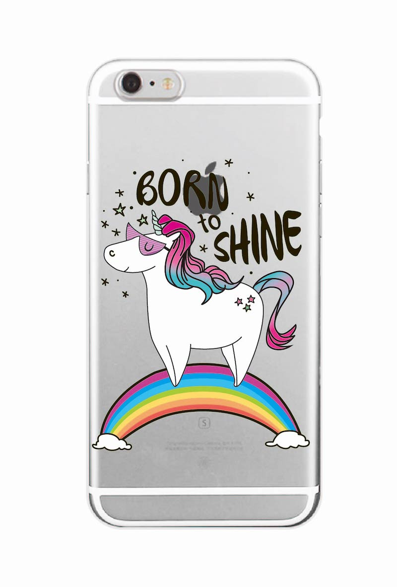 Cute Unicorn Rainbow Pizza Coffee Cartoon Quote Soft Clear Phone Case - Mobile Phone Accessories and Parts - Photo 5