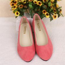 Большой Размер Женщин Квартиры Конфеты Цвет Женской Обуви Мокасины Весна Осень Плоские Случайные Женская Обувь Zapatos Mujer Плюс Размер 35-43