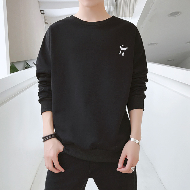 2018 Men Sweatshirt hoodies solid print loose plus size For men Sweatshirt 1