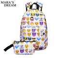 Mara's Dream 2017 Leisure Waterproof Nylon Travel Backpack 3D Smiley Emoji Face Printing School Bag for Teenage Girls Mochila