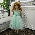 Envío libre de la Menta Verde Vestido Formal Del Vestido de los niños Del Vestido de Partido de la Muchacha más el Tamaño de vestidos Para Los Niños 3-8 Años en la Venta de acciones X-C546
