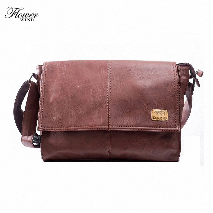 2017 Men Casual Briefcase Business Shoulder Leather Messenger Bags Computer Laptop Handbag Men's Travel Bags handbags