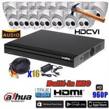 Dahua HCVR4116HS-S3 4ch CVI Security Camera System 1Megapixel 720P Waterproof HDCVI IR Eyeball audio Camera DH-HAC-HDW1100EM-A