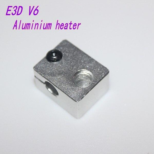 3 D printer parts Reprap E3D V6 Aluminium heater block for HotEnd sand blasting surface 20*16*11.5mm