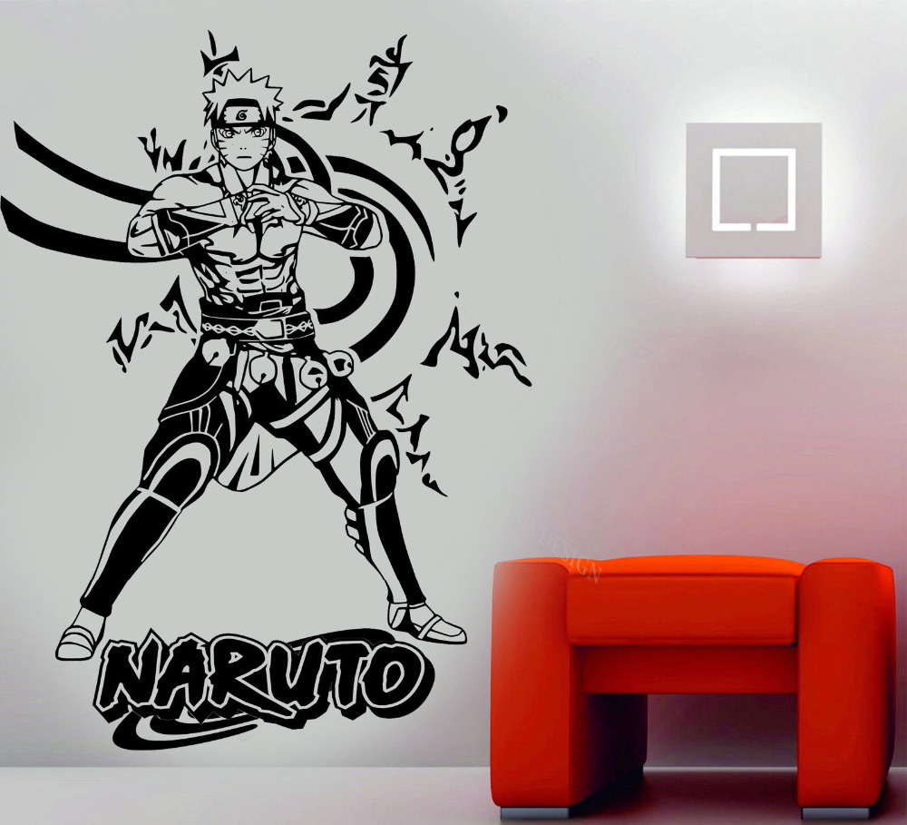 online get cheap naruto vinyl wall stickers aliexpress com 3d poster naruto anime manga wall art decal high quality vinyl wall stickers for kids room
