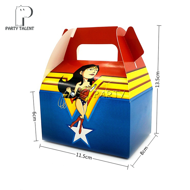 8pcslot Candy Box Gift Bags for Kids Children Wonder Woman Theme