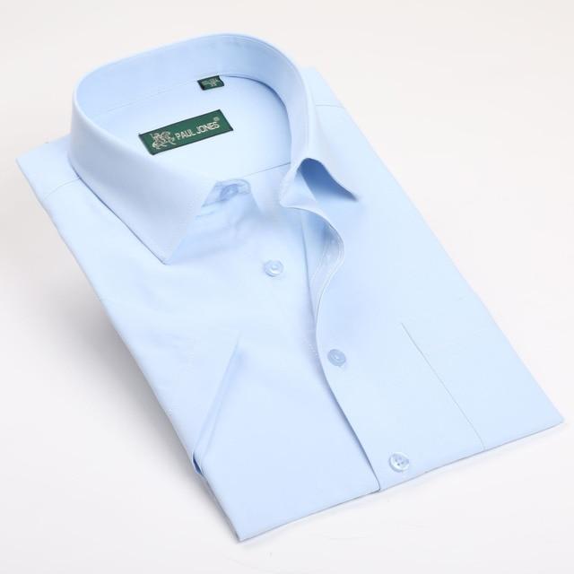 Moda de verano de Manga Corta Para Hombre Camisas Casuales Camisas camisa masculina Formal de Negocios Masculino Regular Fit