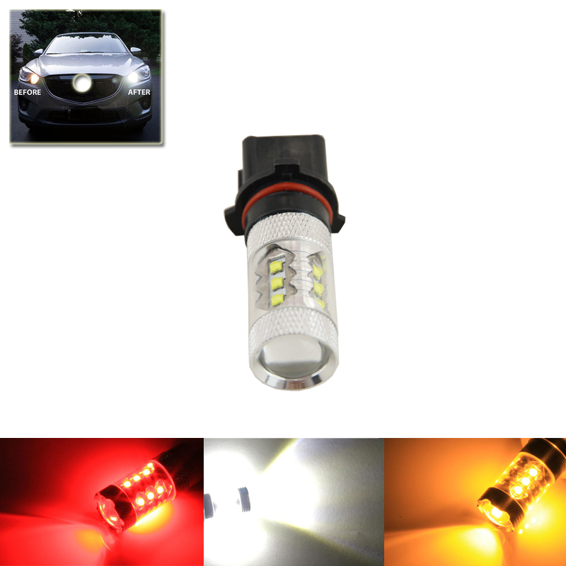 Xenon White 80W P13W PS13W 12277 H18 PG18.5D-1 Cree Chips Led Bulbs For Audi A4 Q5 Daytime Running Lights DRL Driving Fog Lamps