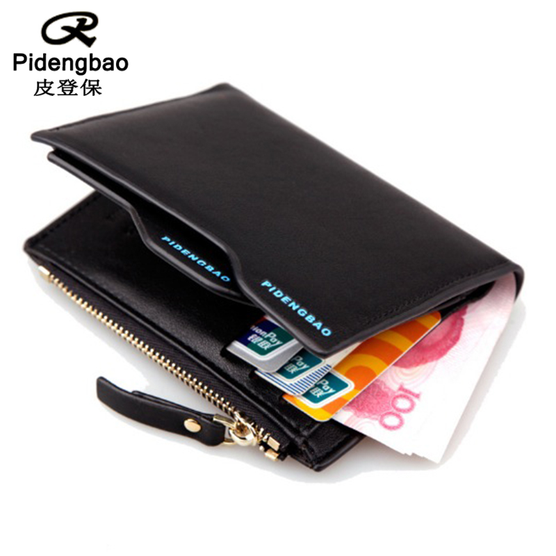 PIDENGBAO wallet purse carteira masculina men wallets short carteras leather famous brand purses portefeuille home mens walet