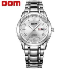 גברים שעונים DOM מותג למעלה יוקרה עמיד למים מכאני נירוסטה שעון גבר reloj hombre reloj M 53D 7M