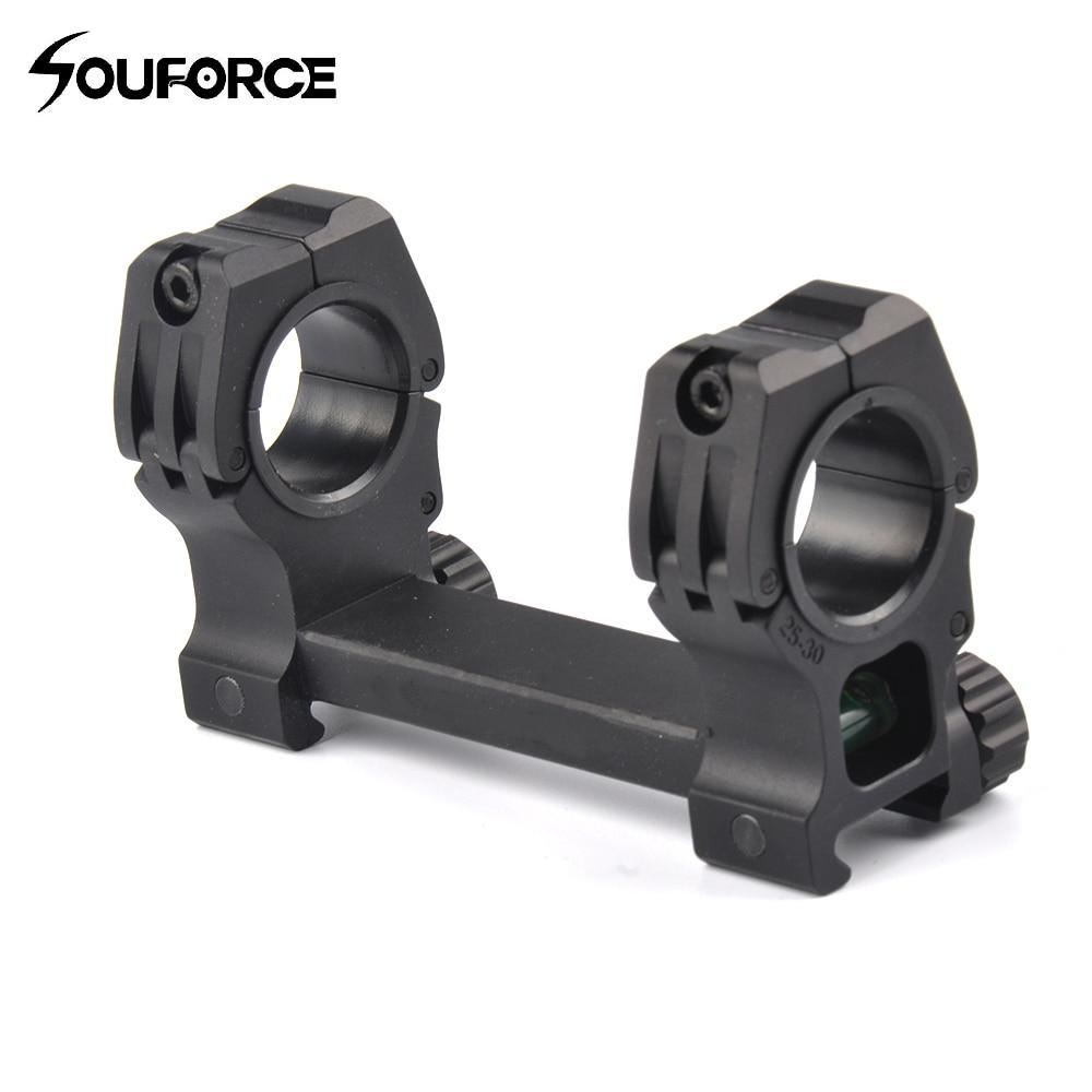 Dvojitý kroužek Bubble Level 30mm Rifle Scopes Mount Mount Fit 20mm Weaver / Picatinny Rail pro lovecké pušky