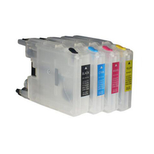 For Brother LC525 LC529 LC525XL LC529XL Empty Refillable Ink Cartridge J100 J105 DCP-J100 DCP-J105 MFC-J200 Printer