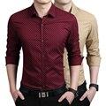 Мужские Рубашки мужчины Повседневная рубашка slim fit мужчины рубашки платья хорошие рубашки Азиатский размер M ~ 3XL