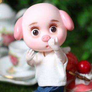 Image 2 - DBS 1/12 BJD 26 шарнирное тело Милая свинья ob11 кукла с одеждой обувью детский подарок 15 см мини кукла имя DODO