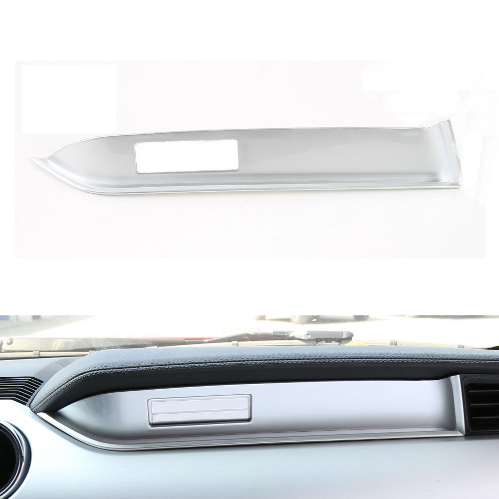 цена на BBQ@FUKA 1pcs ABS Car Interior Passenger Side Console Panel Cover Trim For Ford Mustang 2015-2017 Car inner decoration strip
