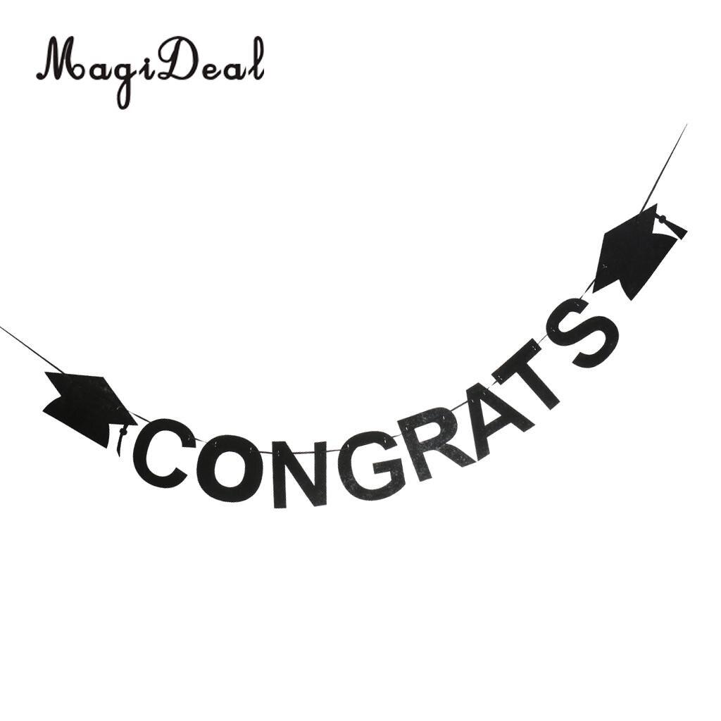 Magideal congrats letters graduation cap felt banner celebration magideal congrats letters graduation cap felt banner celebration graduation party decoration altavistaventures Choice Image