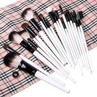 B3008 2013 Hottest Sales 20 PCS Cosmetic Accessories Professional Makeup Brushes Set Beige Plaid Pouch Bag