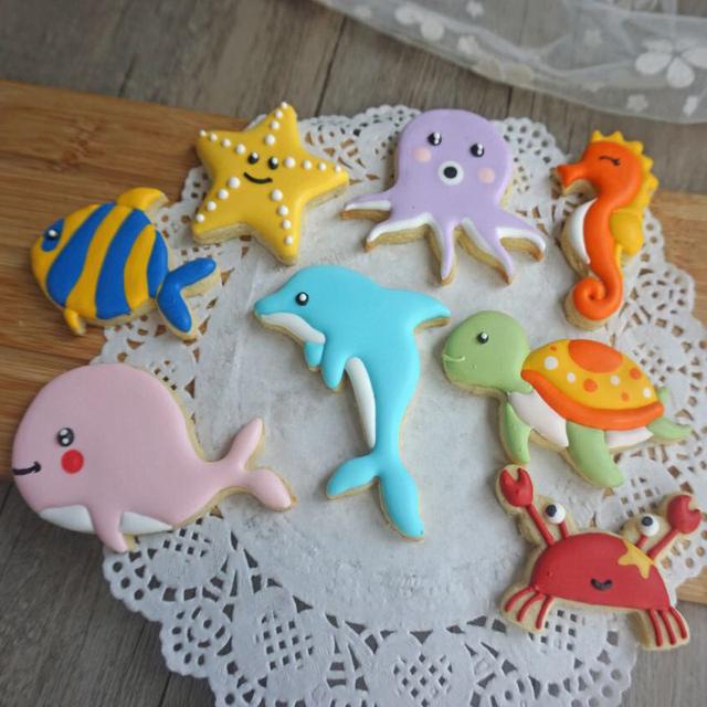 Sea Creature Cookie Cutter 8 Piece Set