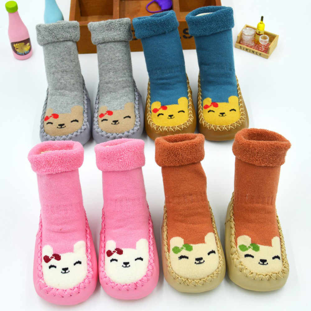 Colors Toddler Newborn Baby Shoes Cotton Cartoon Newborn Baby Girl Boy Shoes Anti-Slip Socks Slipper Shoes Boots