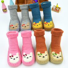 Colors Toddler Newborn Baby Shoes Cotton Cartoon Newborn Baby Girl Boy Shoes Anti-Slip Socks Slipper Shoes Boots(China)