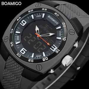 men sports dual display watche