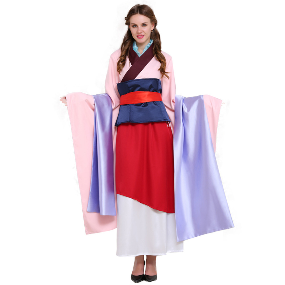 Hua Mulan Cosplay Costume Princess Dress Outfit Adult Mulan Halloween Carnival Party Cosplay Costume