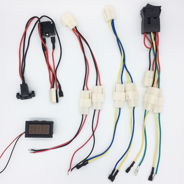 Battery Relocation Wiring Diagram Rv Fresh Water Tank Sensor Drive Electric Car Great Installation Of Children Storage Charging Interface With Fuse Rh Aliexpress Com 12v Charger Schematic