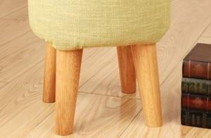 Image 5 - Meubles en bois de chêne massif, pieds de Table basse, canapé lit avec plaques métalliques, meuble, multi taille B518, 4 pièces/lot