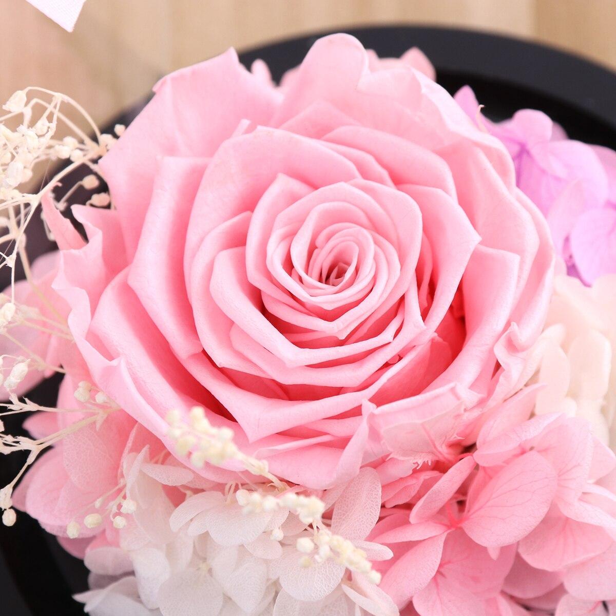 Искусственный цветок розы в четких Стекло купол для дома свадебный Декор Валентина День рождения День матери подарок для вечеринки, дня рож...
