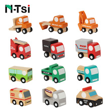 N-Tsi Cute Wooden Assorted Vehicles Raced Model Mini Toy Car Airplane Set For Toddlers Baby Boy Kids Toys for Children Best Gift
