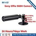 SNO Marca Analógico HD 700TVL Sony Effio CCD Color 3.6mm Lente Mini Bala CCTV À Prova D' Água de Segurança ao ar livre Câmera de cctv dvr 960 h