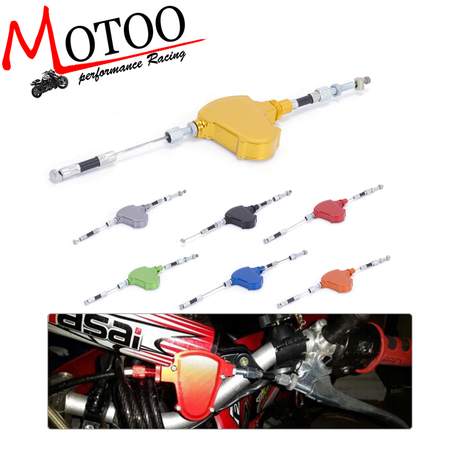 CNC Universal Stunt Clutch Easy Pull Cable System Motorcycles Dirt Bike For YAMAHA YZ125 YZ250 YZ250F YZ400F YZ426F YZ450F WR125 [tool] 2017 new kpop group exo light stick ver 3 0 sehun chanyeol do glow white light stick lamp no box 0123