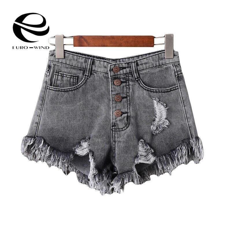 Plus Size 6XL 2019 Summer Denim Short Jeans Women Sexy High Waist Hole Ripped Shorts Fashion Casual Denim Shorts Lady Hotpants