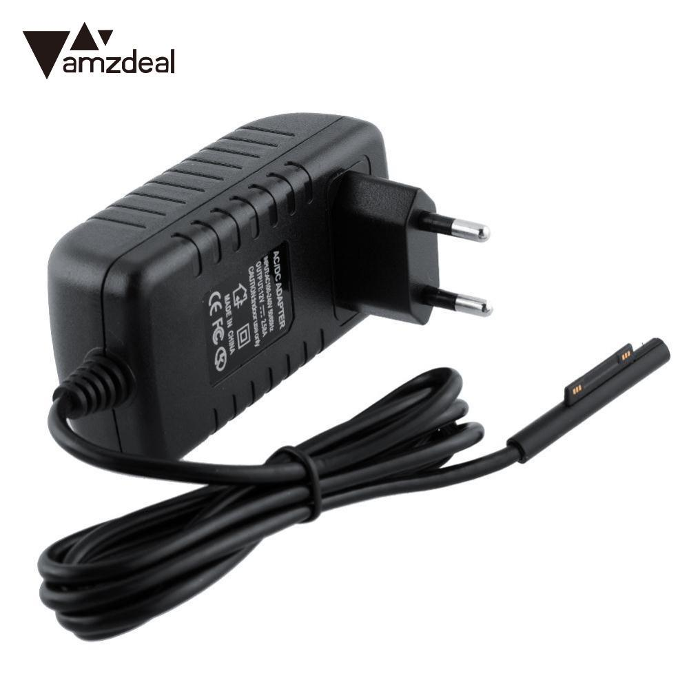 AMZDEAL Portable EU PLUG 12V AC Wall Charger Power Supply Adapter Travel Charger Adapter For Microsoft Surface Pro 3 Tablet