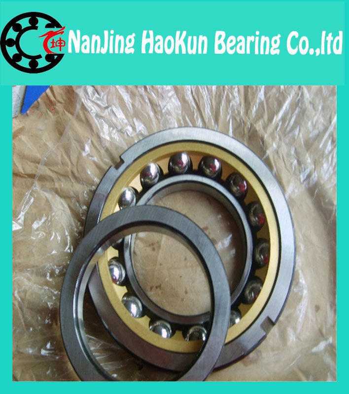 75mm diameter Angular contact ball bearings 7015 AC/P5TBTB 75mmX115mmX60mm,Contact angle 25,ABEC-5 Machine