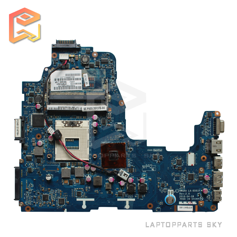 K000104250 for Toshiba Satellite A660 A665 series Laptop Motherboard NWQAA LA-6061P REV2.0 mainboard 100% fully Tested !  motherboard for toshiba satellite t130 mainboard a000061400 31bu3mb00b0 bu3 100% tsted good