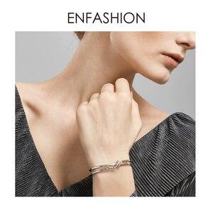 Image 2 - Enfashion 매듭 팔목 팔찌 Manchette Armband 골드 컬러 루프 라인 팔찌 팔찌 여성용 팔찌 Bangles Pulseiras B8782