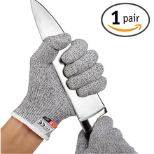 1 Pair Working Anti-cut Safety Gloves Cut Proof Kitchen Butcher Stab Resistant Flame Metal Mesh breathable
