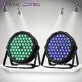 2 шт./лот светодиодное освещение RGBW LED Par освещение 3 Вт x 54 LED DMX 3-в-1 Par сценическое освещение супер яркое для свадьбы DJ события