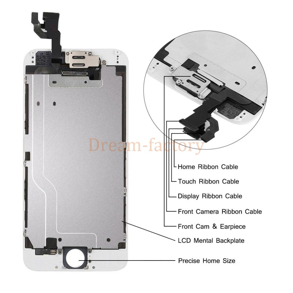 20pcs DHL Full Assembly LCD Replacement For iPhone 7 7 Plus 6 6S Screen Display with