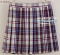 Japanese JK pleated uniform skirt high waist Rainbow Series - Purple plaid skirt Grid