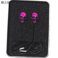 Halloween Cool Metal Skull In Ear Earphones 3 5mm Stereo Earbuds Phone Game Headset For Iphone