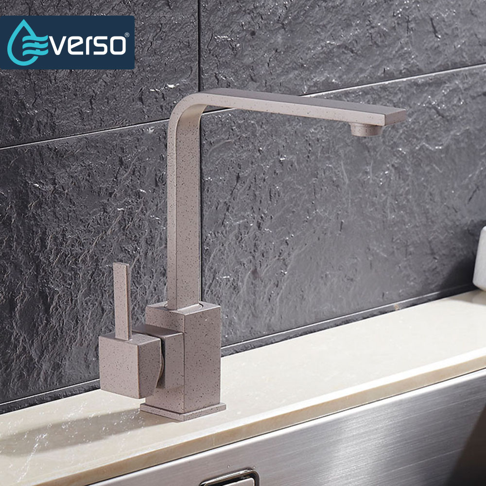 EVERSO 360 Degree Rotating Kitchen Faucet Brass Kitchen Mixer Tap Kitchen Sink Faucet Kitchen Water Filter Faucet kitchen as resin faucet filter transparent blue