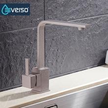 Everso 360 градусов вращающийся кухонный кран латунь смеситель для кухни нажмите Кухонная мойка кран кухня фильтр для воды кран