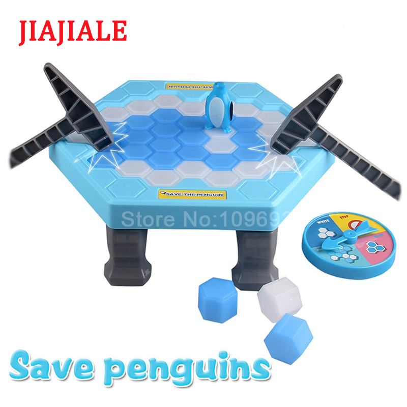 Rescue penguins ice breaker parent-child interaction party play children toys gifts Unisex multi function parent child play toys fishing electric toys blue pink