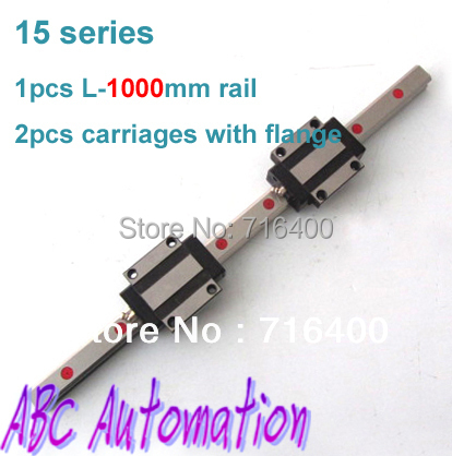 Good quality instead of HIWIN Linear guide 15mm 1pcs linear rail 15mm L=1000mm + 2pcs HGW15CA carriage btx l i946f motherboard s2000i s3041i a6800c instead of 945 915