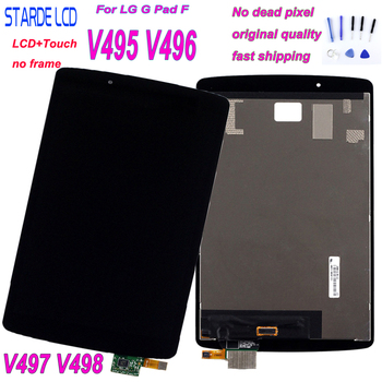 For LG G Pad F 8.0 V495 V496 V497 V498 Touch Screen Digitizer Panel Sensor Panel+LCD Display Assembly Replacement Part for lg g pad lg v700 vk700 v700 touch screen digitizer glass replacement free shipping