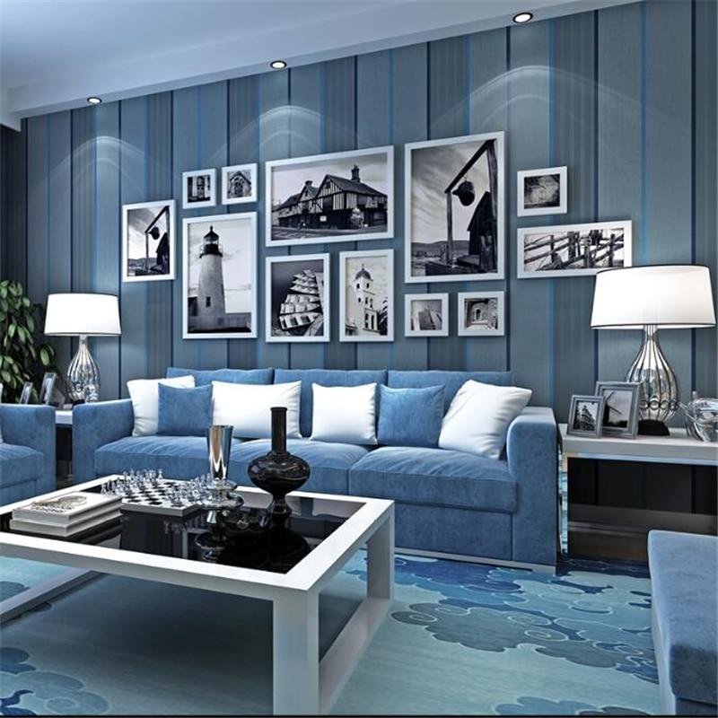 Beibehang Simple Modern Wide Stripe Wallpaper Bedroom Living Room TV Study Office Background Plain 3d Wallpaper 0.53*10m Roll